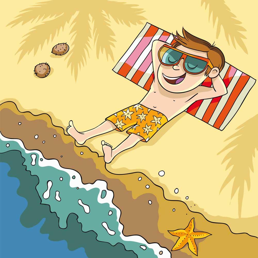 """Иллюстрация """"Лежу на пляже"""""""